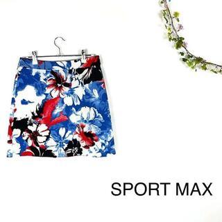 Max Mara - 【美品】SPORTMAX CODE マックスマーラ 花柄 アンブレラスカート