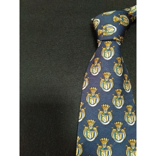 エムシーエム(MCM)のハイブランド MCM ネクタイ ネイビー 紋章柄(ネクタイ)