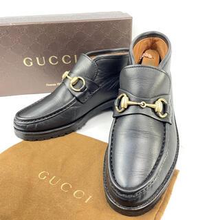 グッチ(Gucci)の【良品】グッチ ホースビット チャッカーブーツ レザー 35ハーフC(ブーツ)