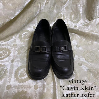 DEPT - vintage Calvin Klein bit loafer leather