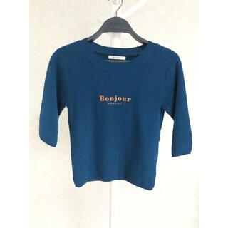 REDYAZEL - REDYAZEL Bonjour ニットTシャツ
