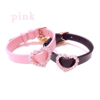 【在庫処分】ハートレザーブレスレット 量産型 ピンク