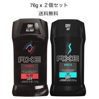 ユニリーバ(Unilever)のAXE アックス デオドラントスティック エッセンス アポロ 76g x 2個 (制汗/デオドラント剤)