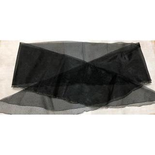 ミッシェルクラン(MICHEL KLEIN)のミッシェルクランのキラキラショールです。新品!(バンダナ/スカーフ)