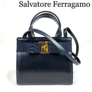 Salvatore Ferragamo - Salvatore Ferragamo ヴァラ レザー 2WAY ショルダーバッ