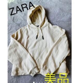 ZARA - 【美品】ZARA カンガルーポケット付きフーディ