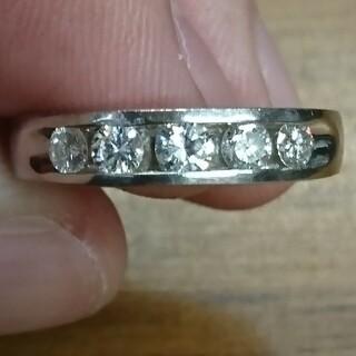 pt900 ダイヤモンド(0.50ct) 一文字リング 11号(リング(指輪))
