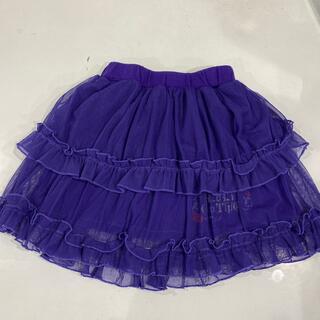 アイカツ(アイカツ!)の子供服 アイカツのスカート 120センチ(パープル)(スカート)