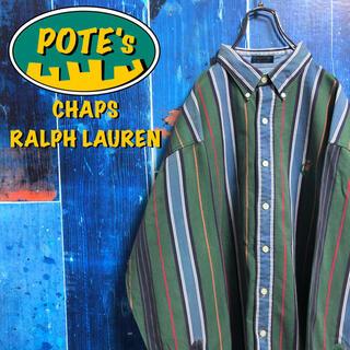 Ralph Lauren - 【チャップスラルフローレン】ワンポイント刺繍ロゴマルチストライプシャツ 90s