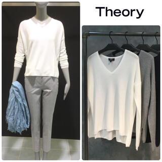 theory - 未使用 Theory セオリー サマーニット ホワイト