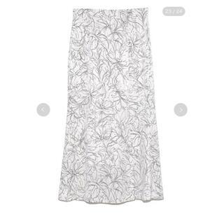snidel - スナイデル♡ラインフラワーナロースカート