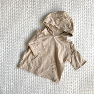 DEVILOCK - devirock  切りっぱなし 7分袖 パーカー  100cm