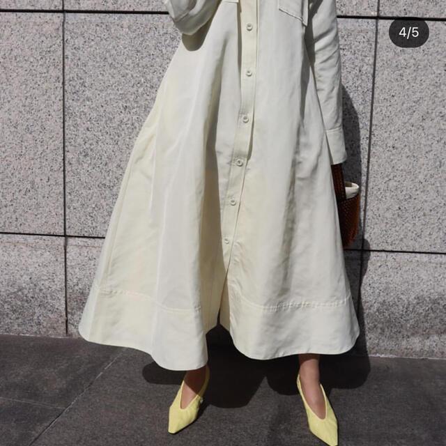 Drawer(ドゥロワー)のmachattメモリーグログランシャツコート レディースのジャケット/アウター(ロングコート)の商品写真