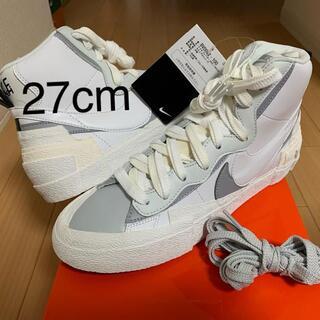 26cm sacai × NIKE Blazer Mid White 送料込(スニーカー)