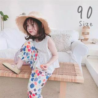 1点のみ トップス+パンツ 90 セットアップ 韓国子供服