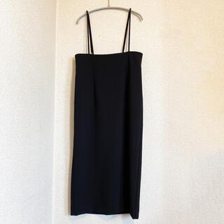 Noble - 【美品】ノーブル Noble サスペンダースカート 黒 サイズ38