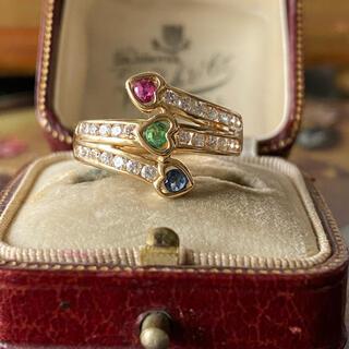 サファイア カラフルリング ダイヤモンド 18金イエローゴールド (リング(指輪))