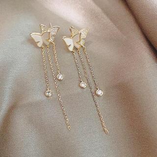 アーカー(AHKAH)のbutterflies chain pierce ◯s925 post(ピアス)
