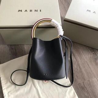 Marni - MARNI レディース ハンドバッグ パニエ レザー 2way ブラック