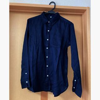 MUJI (無印良品) - 無印良品 ネイビーシャツ