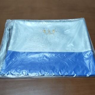 アオキ(AOKI)のスヌーピー レザー調クラッチ  銀&青(セカンドバッグ/クラッチバッグ)