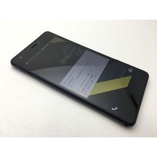 キョウセラ(京セラ)のSIMフリー美品au Qua phone QZ KYV44 インディゴ 522(スマートフォン本体)