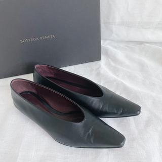 Bottega Veneta - BOTTEGA VENETA アーモンド フラットシューズ 37