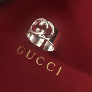 Gucci - シンプル ユニセックス シルバーGG リング