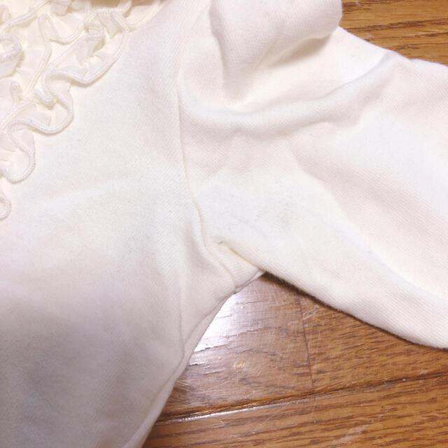 Shirley Temple(シャーリーテンプル)のシャーリーテンプル 90 80 春 秋 上着 白 ボレロ カーディガン  キッズ/ベビー/マタニティのキッズ服女の子用(90cm~)(カーディガン)の商品写真