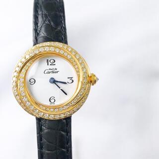 Cartier - 【仕上済】カルティエ トリニティ 飛びアラビア ゴールド ダイヤ 腕時計