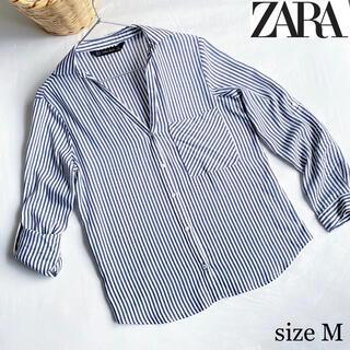 ZARA - ZARA ザラ ストライプ ゆるシャツ