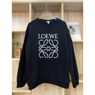 LOEWE - 黒に銀ロゴ刺繍★16000円2枚ロエベLOEWE長袖トレーナースウェット#5