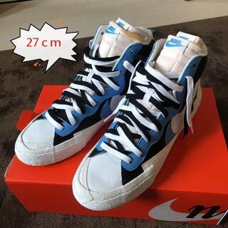 【NIKE】sacai ブレーザーMID ブルー 27cm(スニーカー)