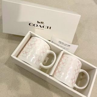 COACH - 新品未使用 COACH マグカップ パールピンク
