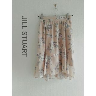 ジルスチュアート(JILLSTUART)のJILL STUART 花柄フレアスカート(ひざ丈スカート)