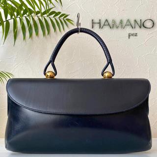 濱野皮革工藝/HAMANO - 超美品 濱野皮革工藝 ロイヤルモデル 99,000円 ハンドバッグ