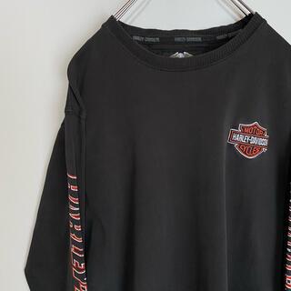 Harley Davidson - ハーレーダビッドソン ロンT HARLEY-DAVIDSON ワンポイント ロゴ