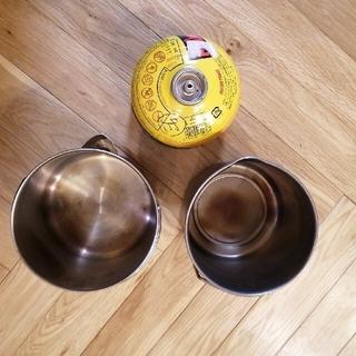 エバニュー(EVERNEW)のエバニュー チタン 800 &ステンレスケトル(調理器具)