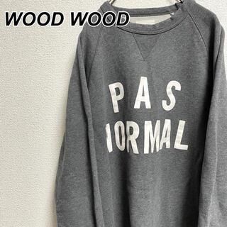 ウッドウッド(WOOD WOOD)のMサイズ 古着 ウッドウッド トレーナー ガゼット タグ ヴィンテージ(スウェット)