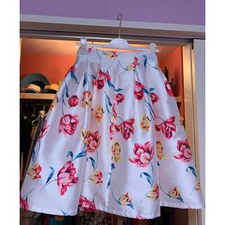 cherry Ann - チェリーアン チューリップ柄スカート