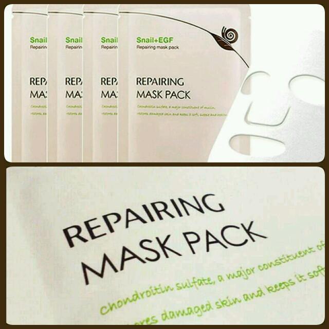 マスク 激安セール / 肌再生栄養パック10枚セット♥カタツムリの通販