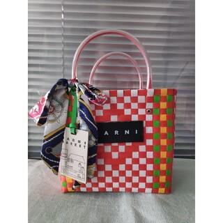 Marni - ❣素敵❣❀MARNI❀マルニ ピクニックバッグ リポン付き 未使用 レディース