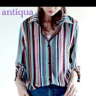 antiqua - antiqua♦レトロミックスシャツ