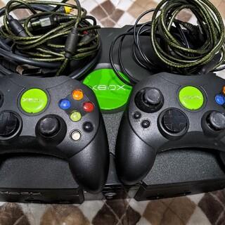 エックスボックス(Xbox)の初代XBOX EVOX導入 HDD250G換装 ドライブ良好 美品 エミュOK(家庭用ゲーム機本体)