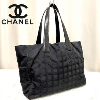 CHANEL - 正規品 CHANEL ニュートラベルライン トートバッグ ブラック A4可能