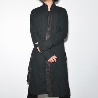 Paul Harnden - 所作 ウォッシャブルレザー×コットンガーゼ アトリエコート ブラック XL