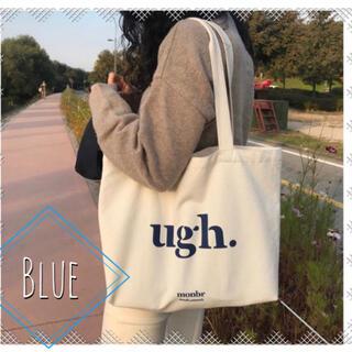1点のみ【訳あり】帆布 シンプルトートバッグ 大容量 英字ロゴ キャンバス 韓国