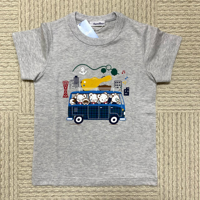familiar(ファミリア)の今季 新作 120 ファミリア  Tシャツ 半袖 ファミリアチェック 限定 完売 キッズ/ベビー/マタニティのキッズ服男の子用(90cm~)(Tシャツ/カットソー)の商品写真