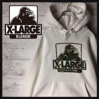 XLARGE - X-LARGE エクストララージ パーカー デカロゴ 定番 カモフラ