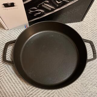 STAUB - staub 両手フライパン ブラック 26センチ